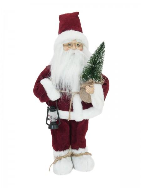 EUROPALMS Weihnachtsmann mit Bäumchen, 45cm