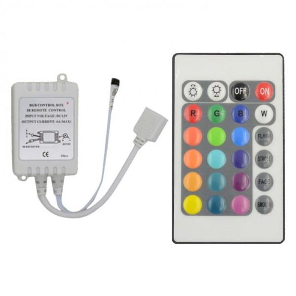 RGB Controller und Dimmer mit 24 Tasten Fernbedienung 12V 6A