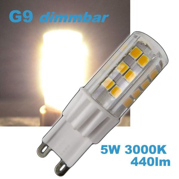 LED G9 5W dimmbar 230V Leuchtmittel 460lm warmweiß (Spot, Strahler, Halogen)