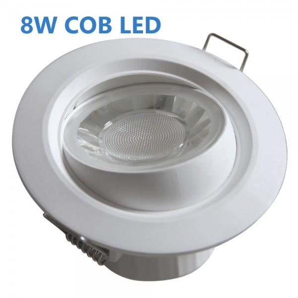 EiKO 68mm LED Einbaustrahler 8W COB 500lm 2700K weiß