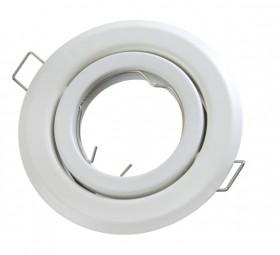 Einbaurahmen rund weiß schwenkbar