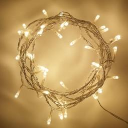 LED Lichterkette 100 Lichter 10m mit 8 Programmen warmweiß IP44