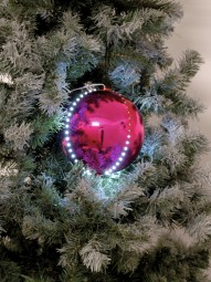 EUROPALMS LED Snowball 8cm, rosa 5x