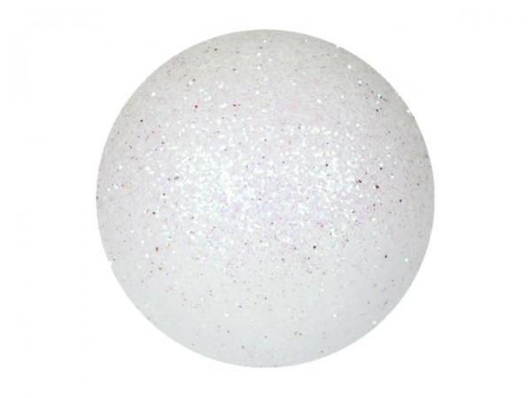 EUROPALMS Dekokugel 3,5cm, weiß, glitzer 48x
