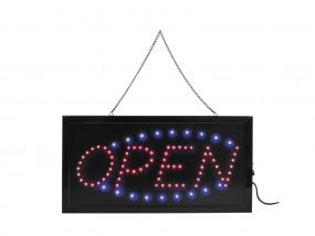 LED Schild Open - geöffnet rot blau