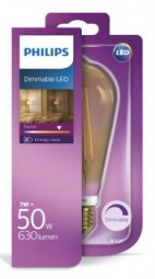 Philips E27 LED Tropfen Filament 7W 630lm extra-warmweiss Gold dimmbar