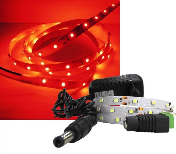 LED Strip Komplettset 1m - 60 SMDs - 3528 - einfarbig ROT