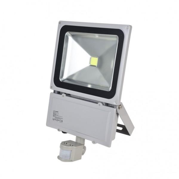 LED Fluter mit Bewegungsmelder 100W 230V COB High Power Strahler IP65