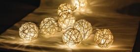 HQ LED Lichterkette Ball 10 Lichter batteriebetrieben
