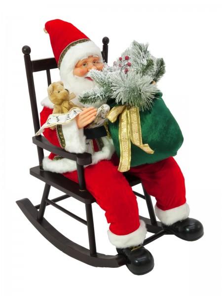Europalms weihnachtsmann mit schaukelstuhl 80cm for Schaukelstuhl deko