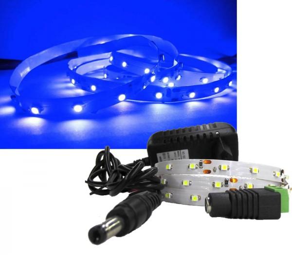 LED Strip Komplettset 1m - 60 SMDs - 3528 - einfarbig BLAU