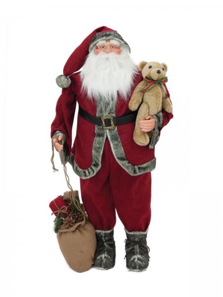 EUROPALMS Weihnachtsmann mit Teddy, 120cm