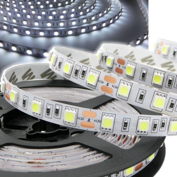 Flex LED Strip 5050 KALTWEIß 1m - 5m 12V 60 LED/m IP20