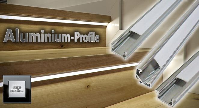 Aluminium Profile für LED Leisten und Streifen