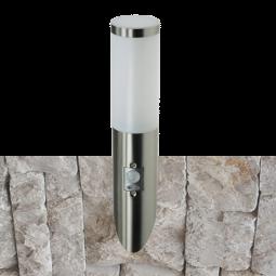 ChiliTec LED Garten Wandleuchte mit Bewegungsmelder Edelstahl Fackel IP44
