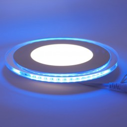LED Downlight 10W blau beleuchteter Glasrand warmweiß neutralweiß