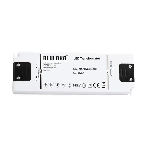 Ultraflacher LED Trafo 0,5 - 75W für 12V DC LED Lampen