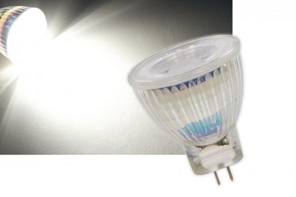 3W Glas Leuchtmittel LED Strahler GU4 COB MR11 250lm neutralweiß