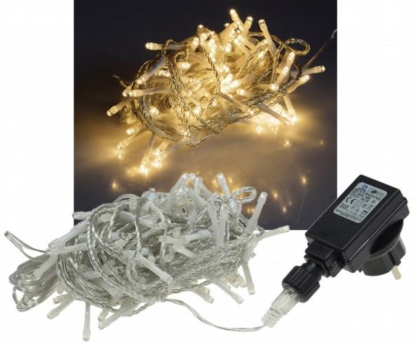ChiliTec LED Lichterkette 10m warmweiß 100 LED IP44