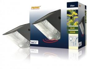 Ranex LED Solar-Wandleuchte mit Bewegungsmelder Olav IP44
