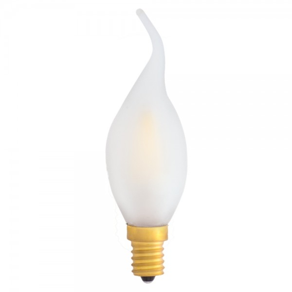 EiKO Dimmbare Windstoß-Kerze LED E14 Filament frosted C35 4W warmweiß 2700K 360lm 230V