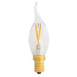 EiKO Windstoß-Kerze LED E14 Filament klar C35 2W warmweiß 2700K 220lm 230V