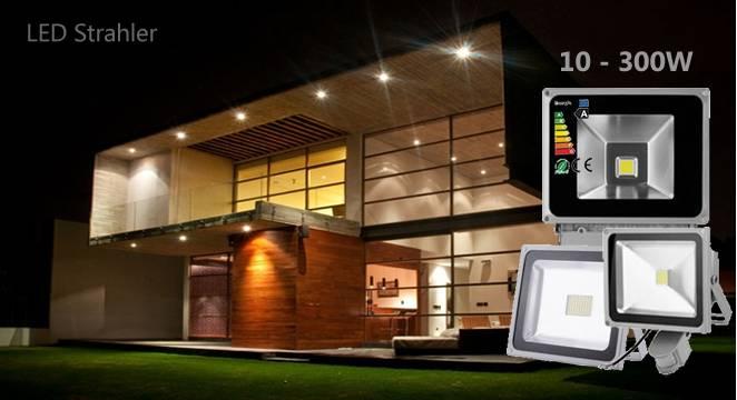 LED Fluter 10 - 300W Strahler mit oder ohne Bewegungsmelder für Draußen günstig bei LEDkauf24.de