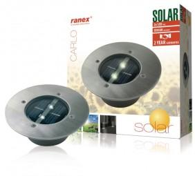 1250kg befahrbarer LED Solar-Bodeneinbaustrahler Carlo rund IP67