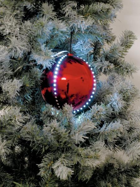 EUROPALMS LED Snowball 8cm, rot 5x