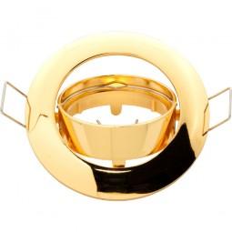 Runder Einbaurahmen gold für GU10 / MR16 Leuchtmittel