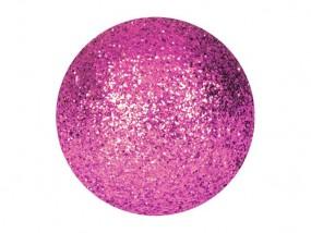 EUROPALMS Dekokugel 3,5cm,pink, glitzer 48x