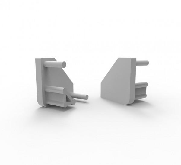 Endkappen für 45° Eckprofil Montageprofil