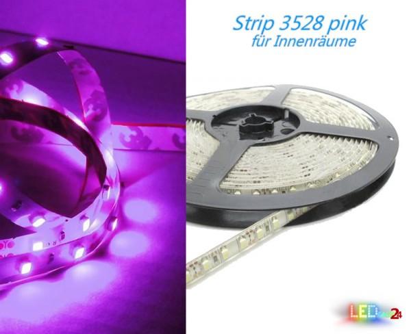 LED Strip PINK 12V 60 LED/m IP20 Wunschlänge
