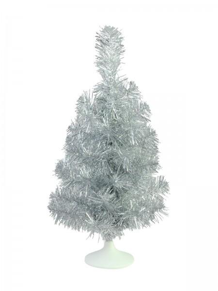 EUROPALMS Tischtannenbaum, silber, 45cm