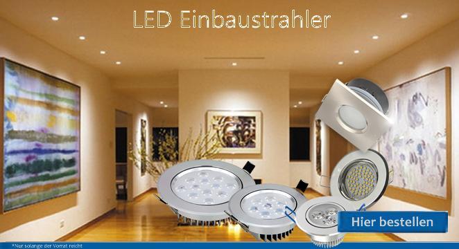 Schwenkbare und dimmbare LED Einbaustrahler für Innen und Außen