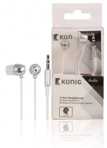 König Smart Kopfhörer 3,5mm Silber