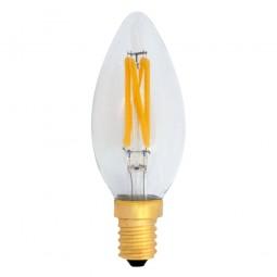 EiKO Dimmbare C35 LED E14 Filament Kerze 4W warmweiß 2700K 380lm 230V