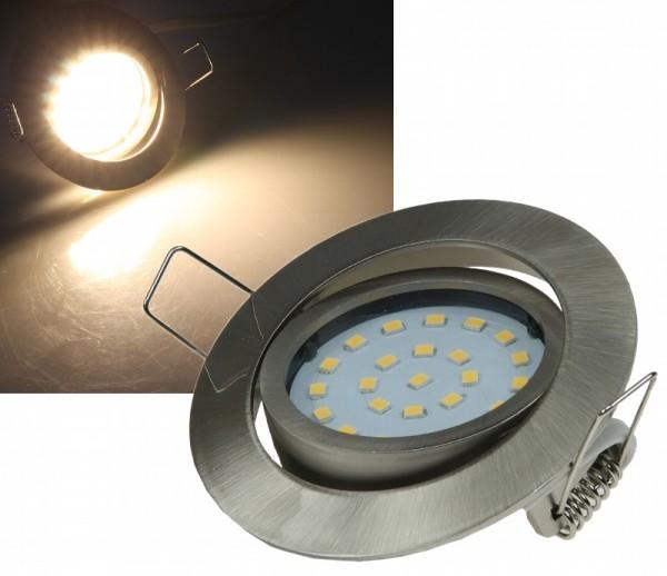 "ChiliTec Dimmbarer LED Einbaustrahler ""Flat-32dim"" warmweiß 5W Edelstahl gebürstet"