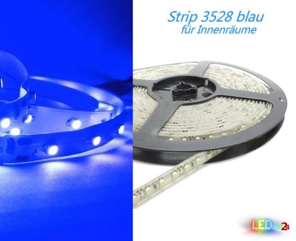 LED Strip BLAU 12V 60 LED/m IP20 Wunschlänge