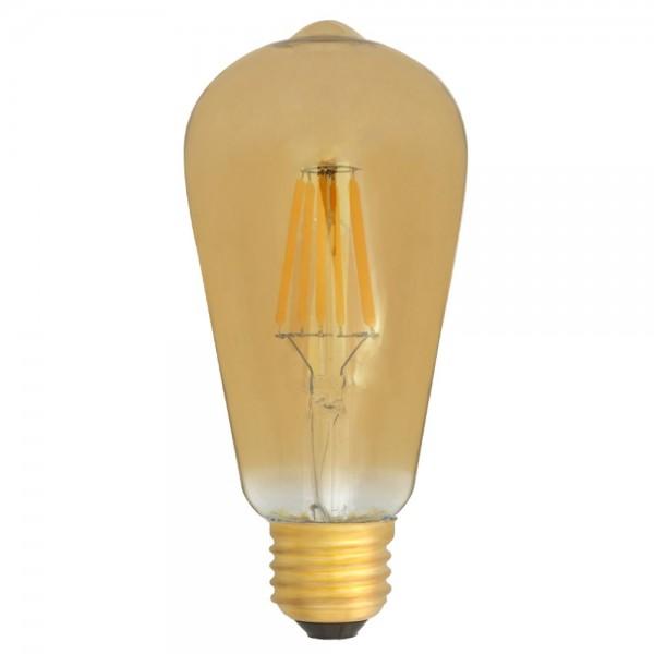 EiKO ST64 gold LED E27 Filament 6W warmweiß 2400K 600lm 230V