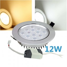 LED Einbaustrahler 12W inkl. Trafo 230V Chrom Spot Bad
