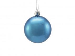 EUROPALMS Dekokugel 6cm, blau, metallic 6x