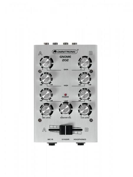 OMNITRONIC GNOME-202 Mini-Mixer silber