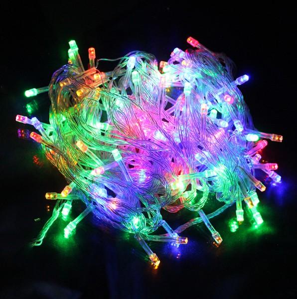 LED Lichterkette 100 Lichter 10m mit 8 Programmen bunt