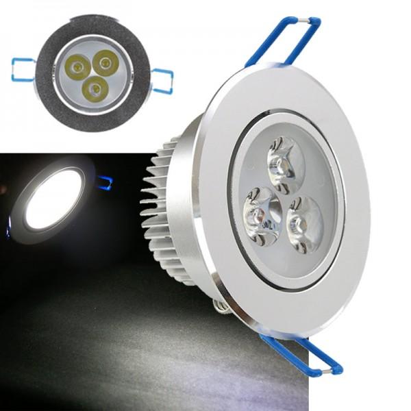 3W LED Einbau Strahler Einbauleuchte Einbaustrahler Deckenlampe Spot Dimmbar