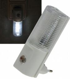 LED Nachtlicht mit Dämmerungsschalter 1W - 230V Steckdose