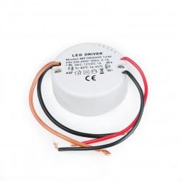 LED Trafo rund 12V 12W 1A für Schalterdosen