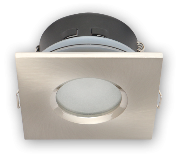 LED Einbaustrahler außen GU10 MR16 Metall gebürstet Spot IP44