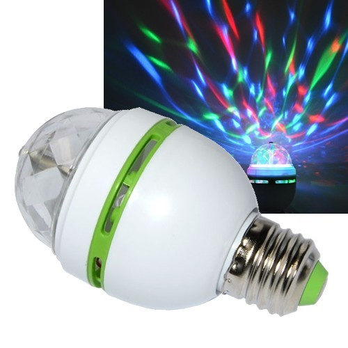 LED Discolampe E27 RGB rotierende Discokugel 3W ...