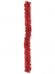 EUROPALMS Edeltannengirlande, rot, 270cm